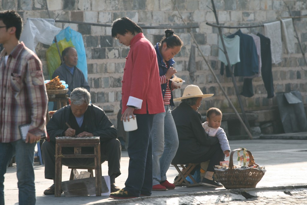 Chinese older people working and child rearing in a rural village (photo: Christina Maags)