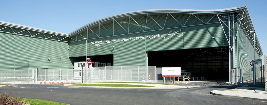 Veolia's Southwark waste treatment facility is located near Old Kent Road (SE15 1AL) and serves as the main recycling point for the borough at a number of locations across King's