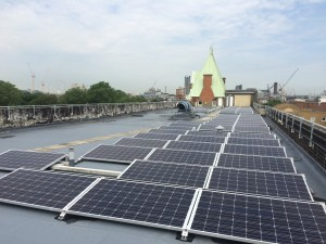 Solar panels on the roof of GDSA