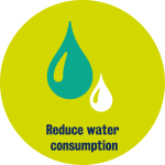 SUSTAINABILITY ICONS - DISC - LIME AND PEA - WATER - HI RES