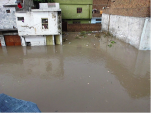 Flooded Infrastructure in Dokh Saidan, Rawalpindi