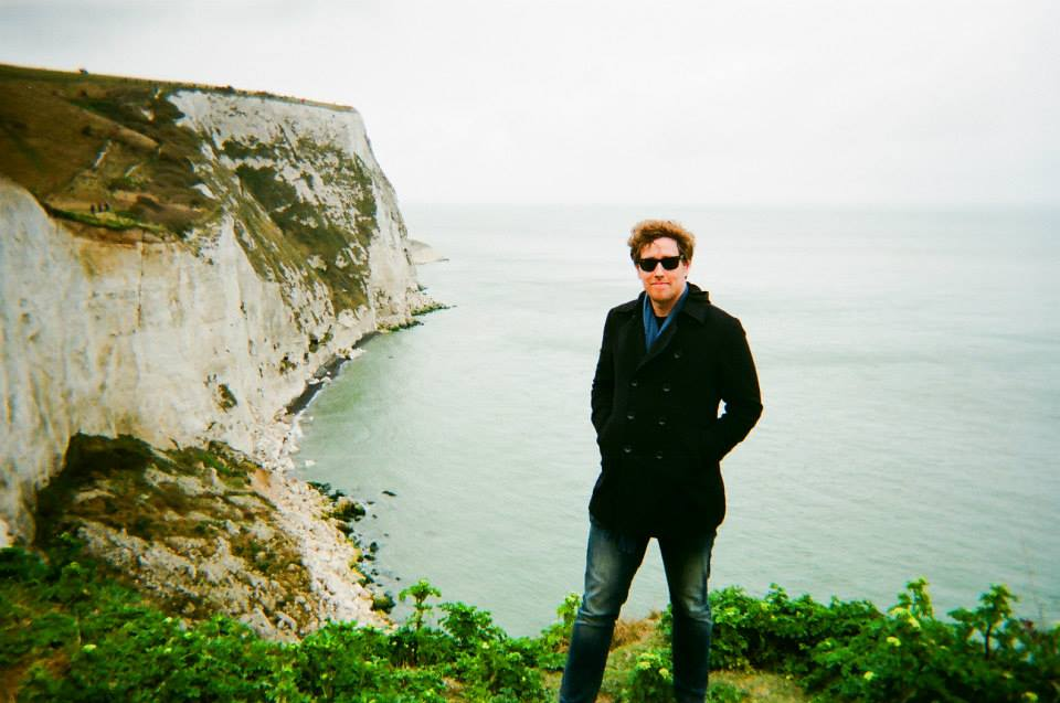 King's Water PhD Researcher Harris Kuemmerle at the Cliffs of Dover