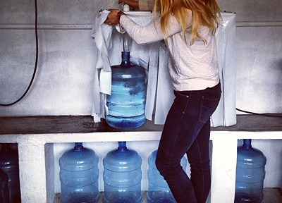 MSc student Rebecca Peters working on a water purification project in Chiapas, Mexico