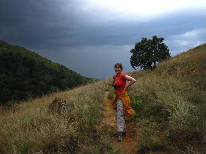 King's Water researcher Kelly Gunnell in the Drakensberg, South Africa