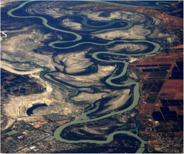 An aerial photograph of the Murray-Darling Basin in Australia