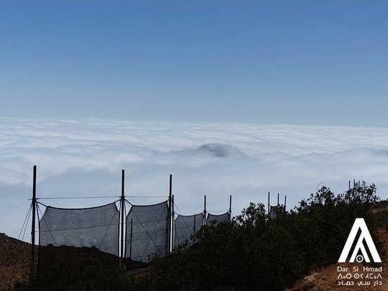 Dar Si Hmad operates fog nets in the cloudy desert of Morocco
